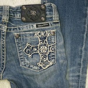Miss Me bootcut distressed embellished bling jeans